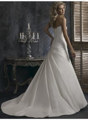 Empire A-line Sweetheart Ruching Taffeta Wedding Dresses