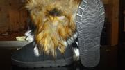 Never Worn Black Fur Boots Size 5