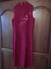 Red oriental dress