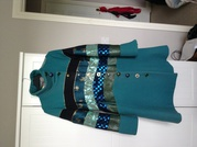 Desigual Coat in blue/green and with beautiful array of buttons