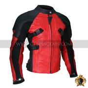 New Arrive Armored Style Deadpool Bikers Leather Jacket In USA