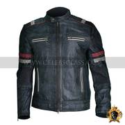 Best Quality Men Vintage Biker Retro Motorcycle Cafe Racer Moto Distre